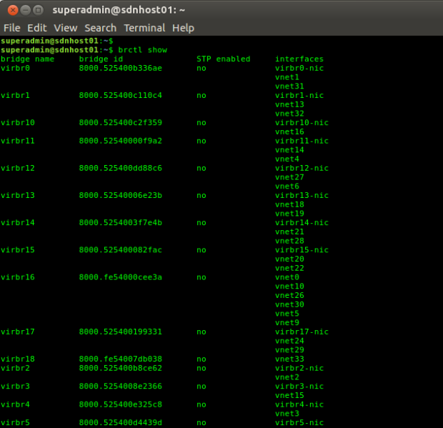 Linux Bridge Names on KVM Host